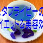 バタフライピーのダイエットと美容効果