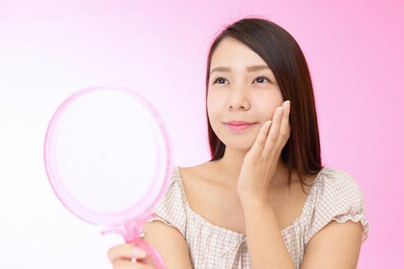 皮脂膜が十分にある美肌の女性