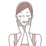 くすみ肌改善マッサージをする女性